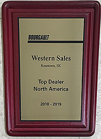Western Sales Awarded Bourgault Top Dealer in North America 2018-19