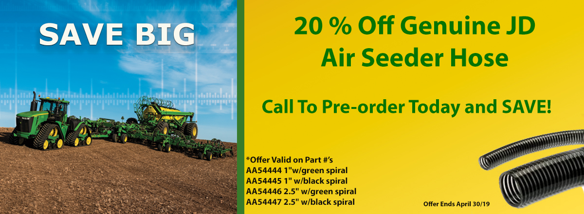 20 % OFF JD Air Seeder Hose
